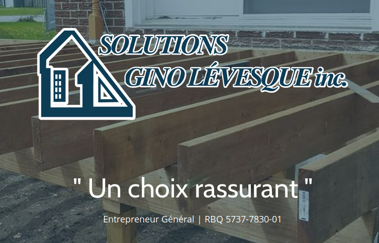 Site Web : Solutions Gino Lévesque inc.